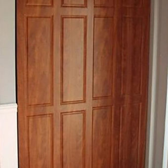 Summer flame wooden raised panel sliding door
