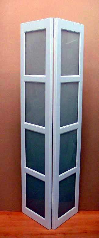 Bi-fold raised panel white closet door