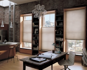 Hunter Douglas window treatments in modern living space
